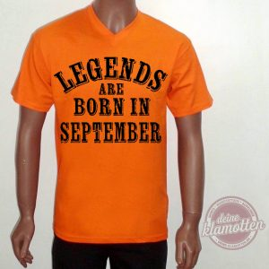 Fun Shirt Legends Are Born In September