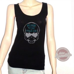 Damen Fun Tanktop Welcome To The Other Side Skull Totenkopf