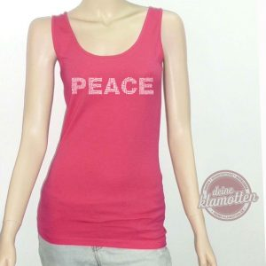 Damen Fun Tanktop PEACE Frieden