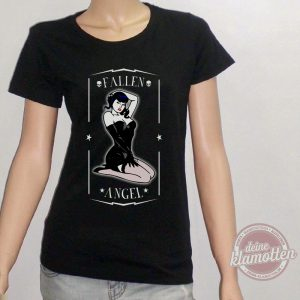 Damen Fun Shirt Fallen Angel Vintage Style