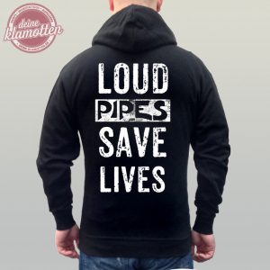 Fun Hoodie Fuck Loud Pipes Save Lives Motorrad Bike