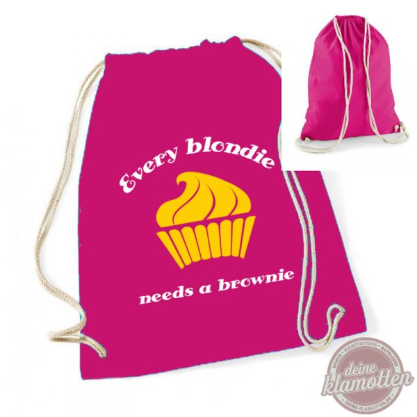 Turnbeutel Every blondie needs a brownie #BFF Freundschaft