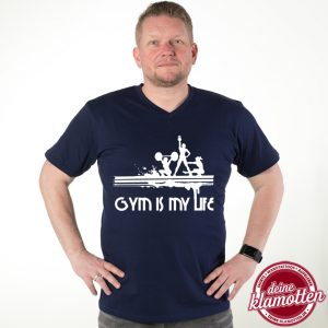 Fun Shirt Gym is my life Fitness Sport Gym Training