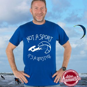 Herren Rundhals Fun Shirt Kitesurfen Kiteboarden Not a Sport it s a lifestyle Fitness Wassersport Strand Beach