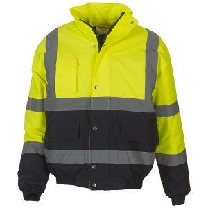 Herren Arbeitsjacke Sicherheitsjacke Fluo 2-Tone Bomber Jacket Profi Workwear