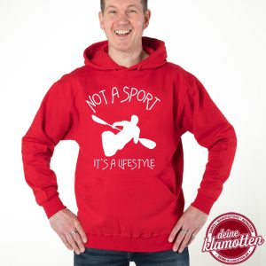 Herren Fun Hoodie Not a Sport it´s a Lifestyle Paddeln Spaß Sport