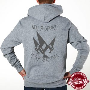Herren Fun Hoodie Not a Sport it´s a Lifestyle Windsurf Spaß Sport
