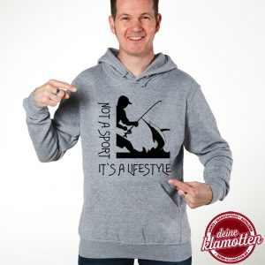 Herren Fun Hoodie Not a Sport it´s a Lifestyle Angeln Spaß Sport