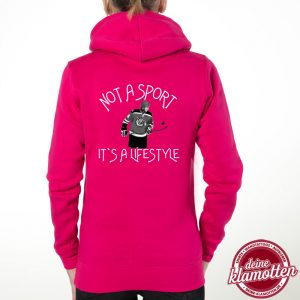 Damen Fun Hoodie Not a Sport it´s a Lifestyle Sport Spaß Hobby Eishockey